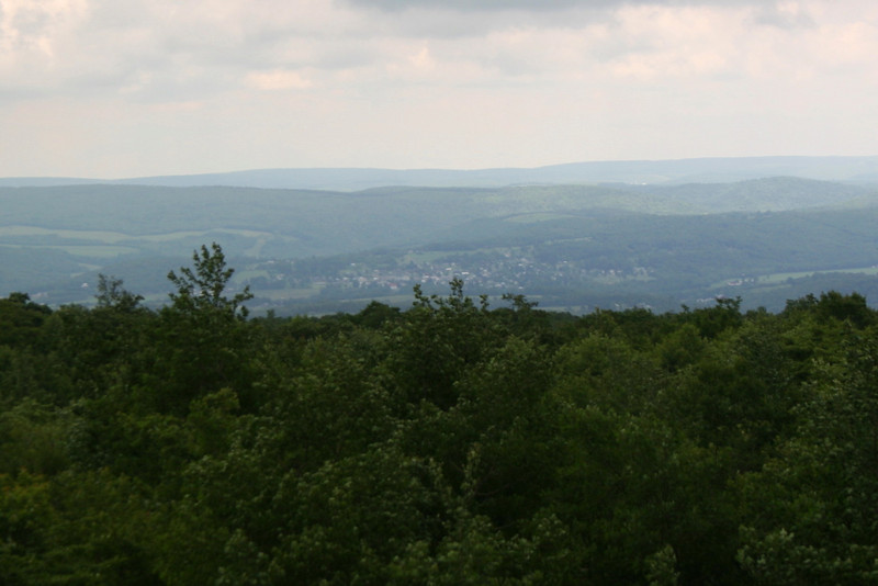 Salisbury, Pennsylvania...where we had driven up from... sitting in the valley to the east...