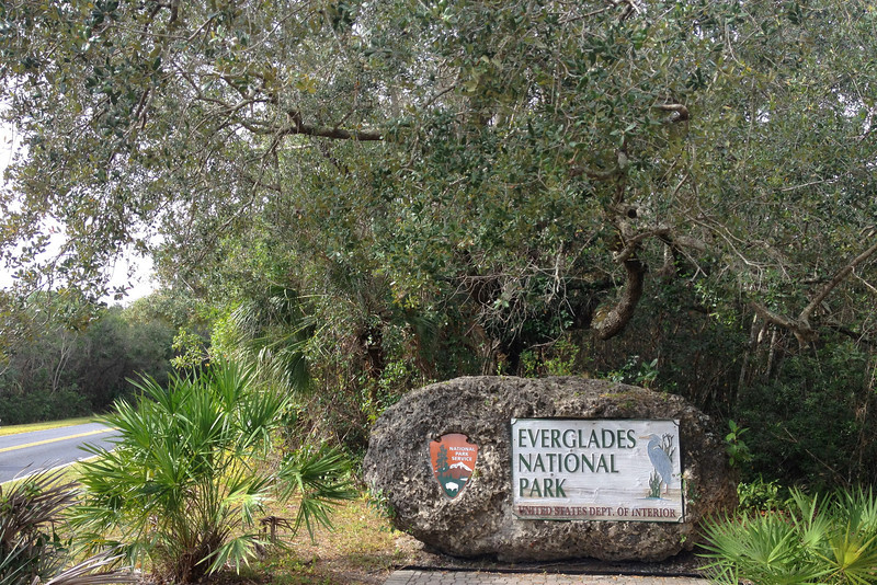 The east entrance to Everglades National Park.  The Anhinga Trail is located about 4 miles inside the park from this point...