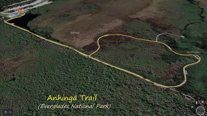 Anhinga Trail Hike Route Map
