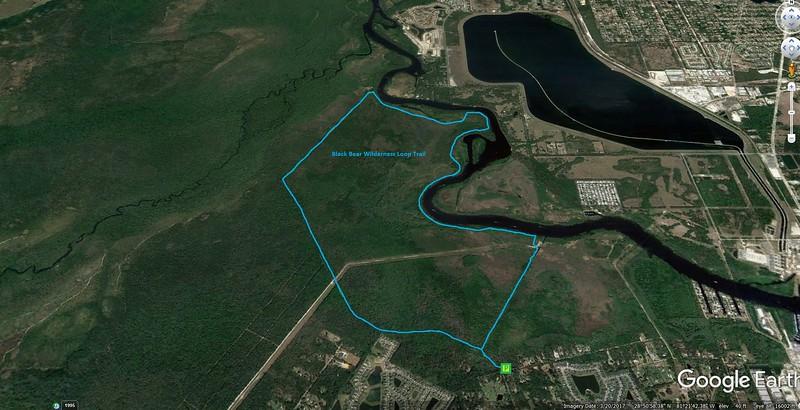 Black Bear Wilderness Loop Route Map