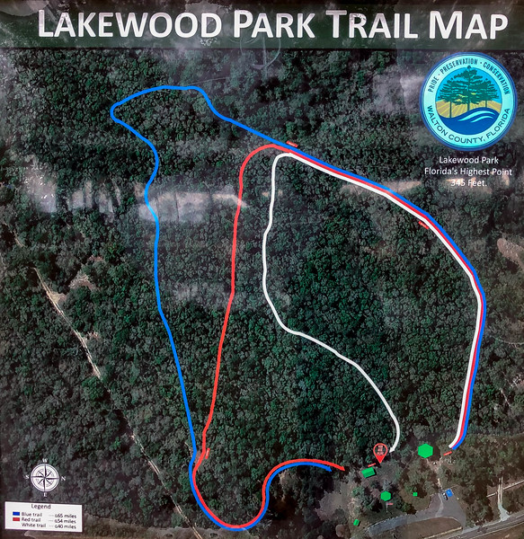 Britton Hill/Lakewood Park Hike Trail Map