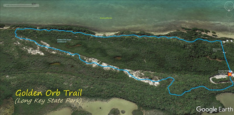 Golden Orb Trail Hike Route Map