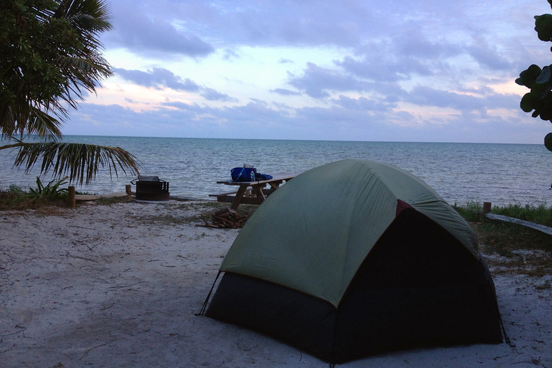 Every one of Long Key's 51 campsites is equipped with an oceanfront view like this...