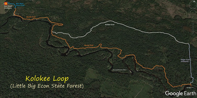 Kolokee Loop Hike Route Map
