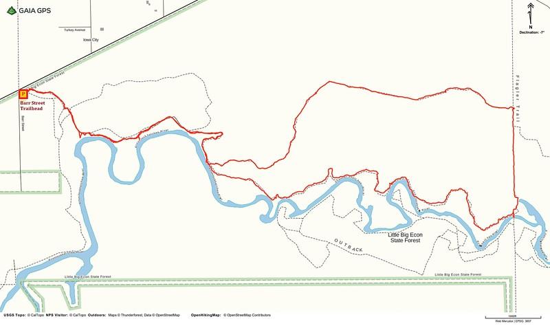 Kolokee Loop Hike Route Map