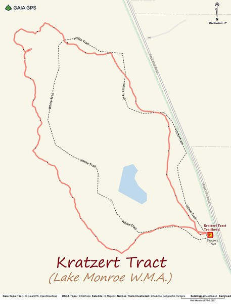 Kratzert Tract Loop Route Map