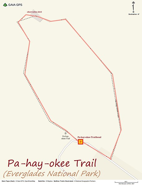 Pa-hay-okee Trail Route Map