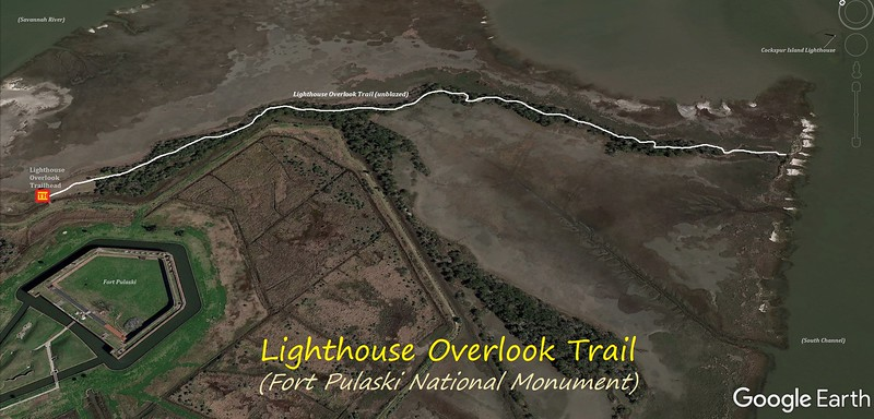 Lighthouse Overlook Trail Hike Route Map