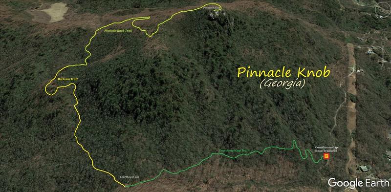 Pinnacle Knob Hike Route Map