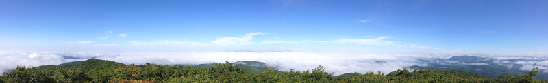 A sea of clouds and mountain islands...the grand 180-degree panorama to the west...