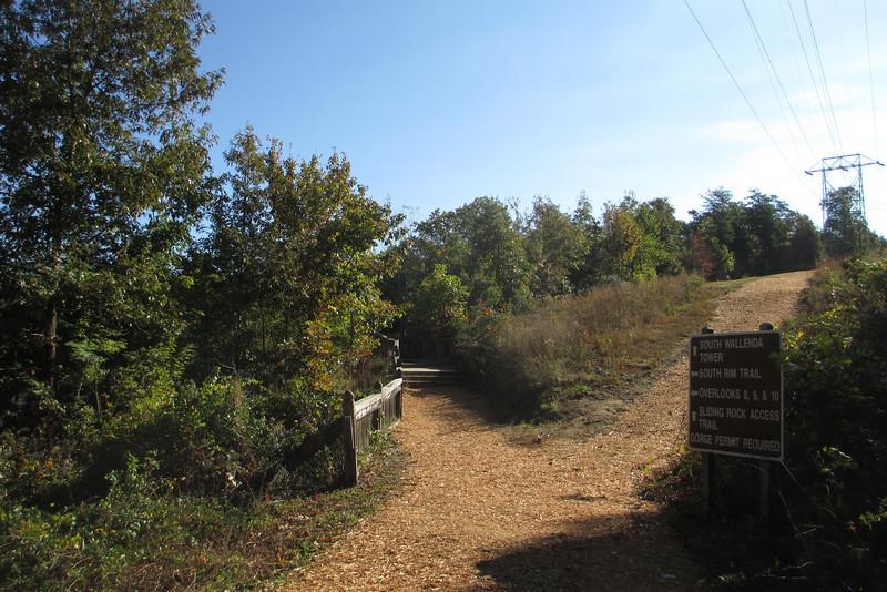 South Rim-Sliding Rock Access Trail Junction
