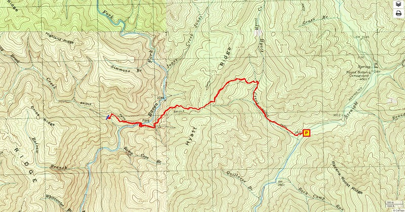 Enloe Creek Falls Hike Route Map