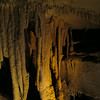 A rather rough-looking cluster of stalactites near the end of the tour...