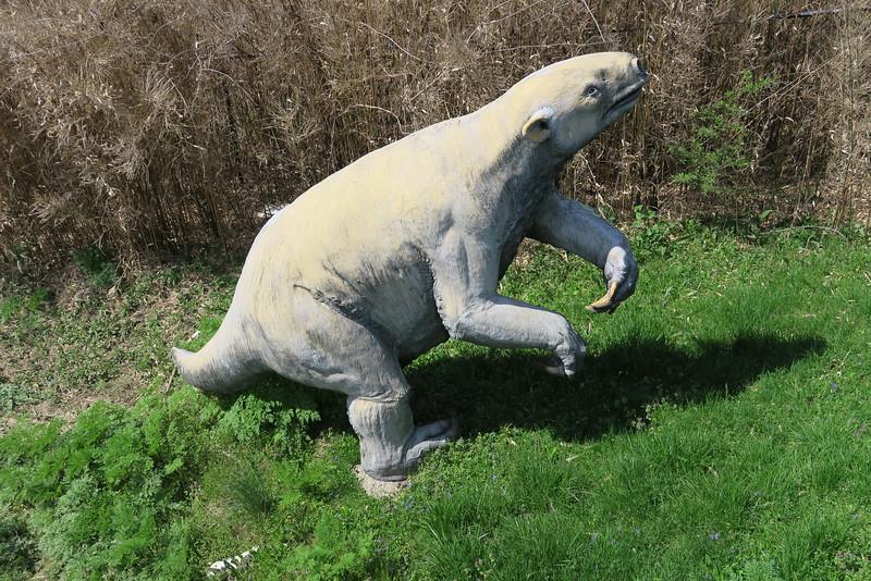 Prehistoric Bog Exhibit - Giant Ground Sloth