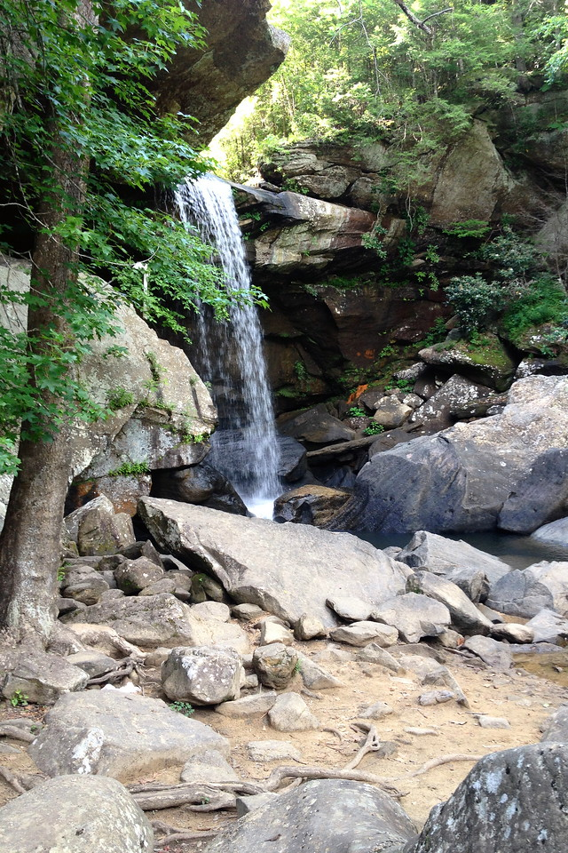 Tucked into the cliff, a couple hundred yards back from the Cumberland River, was Eagle Falls...