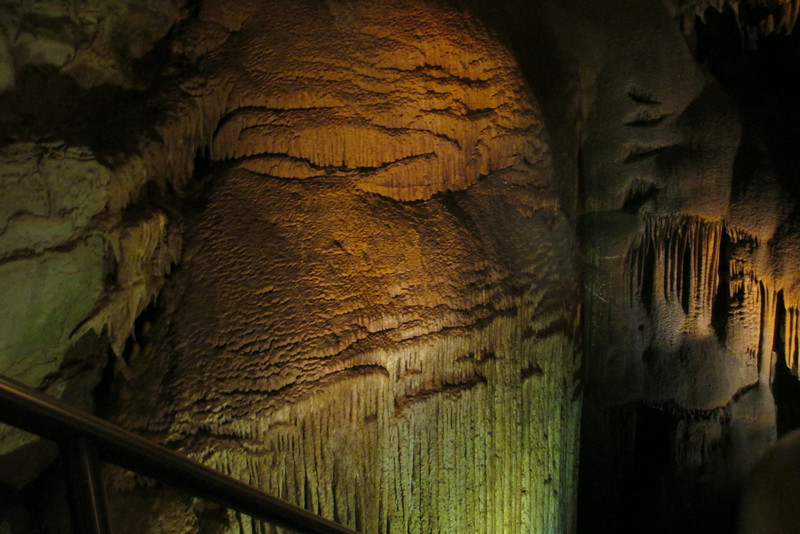 "Finally, the star of the Drapery Room...the massive formation known as 'Frozen Niagara"" is a conglomeration of stalactites measuring 75 feet high and 50 feet wide!!!..."