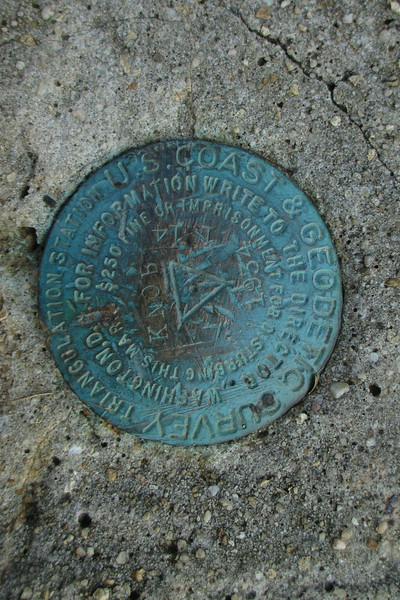 "The Woodall Mountain summit benchmark...placed in 1934 and officially designated, weirdly, as ""Knob Reset""..."