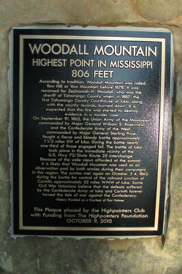 The Highpointers Club installed this plaque at the summit a few years back describing the significance of the peak and its rather remarkable history...