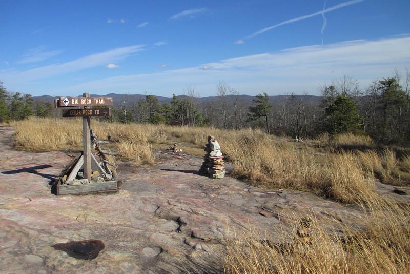 Big Rock-Cedar Rock Trail Junction