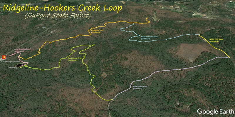 Ridgeline-Hooker Creek Loop Hike Route Map