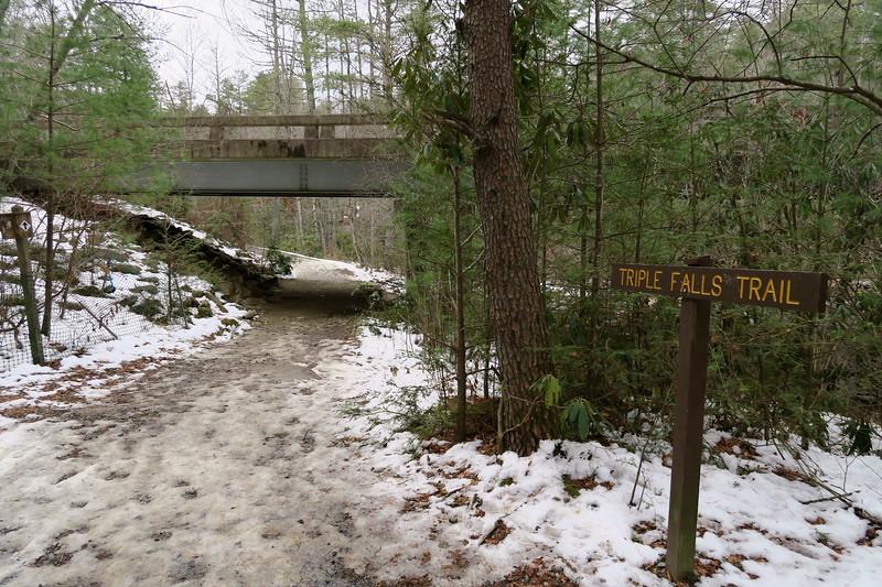 Triple Falls Trail  -- 2,250'
