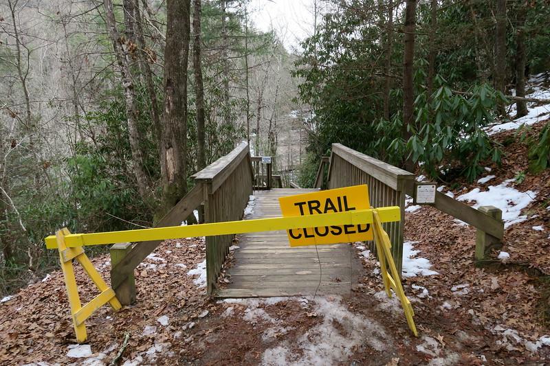 Triple Falls Trail  -- 2,400'
