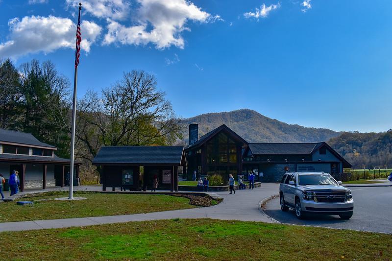 Oconaluftee Visitor Center -- 2,040'