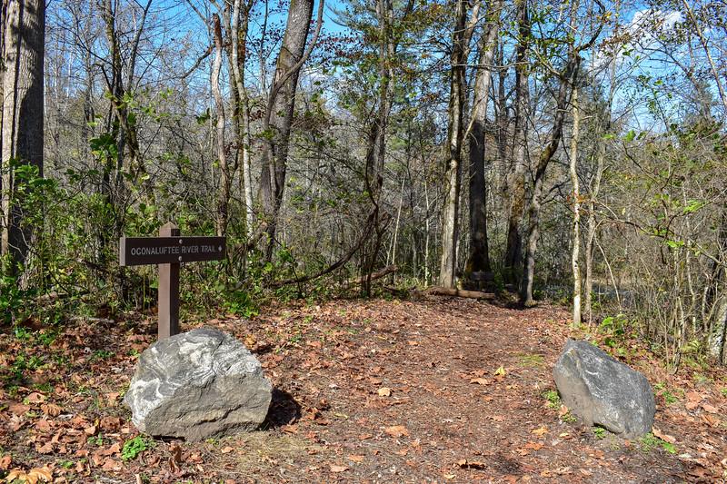 Mountains-to-Sea Trail @ Blue Ridge Parkway South Terminus -- 2,000'