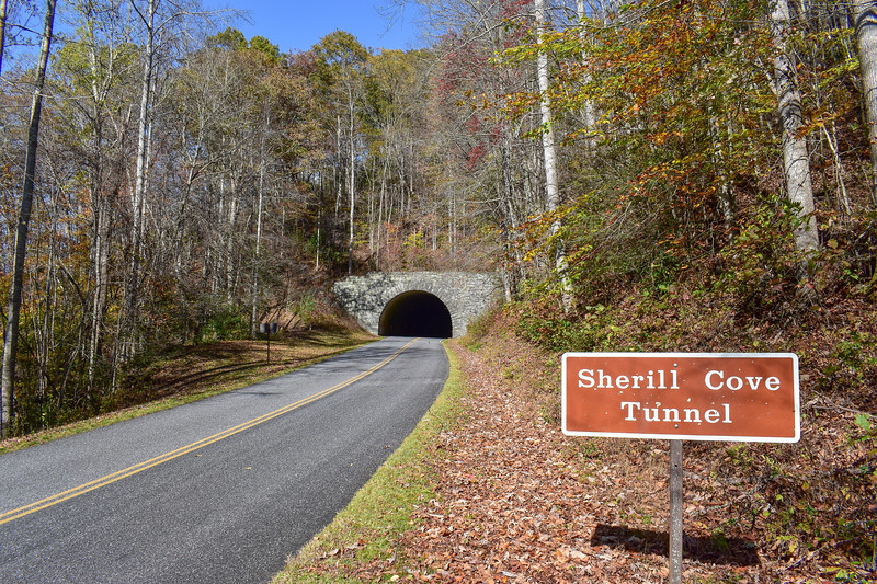 Blue Ridge Parkway/M.S.T. @ Sherill Cove Tunnel (South End) -- 2,900'