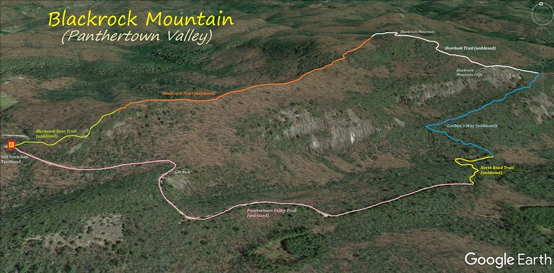 Blackrock Mountain Loop Hike Route Map