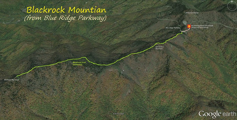 Blackrock Mountain Hike Route Map