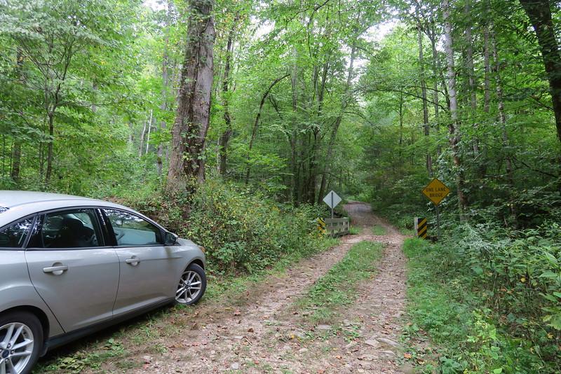 Sugar Creek Road 'Trailhead'