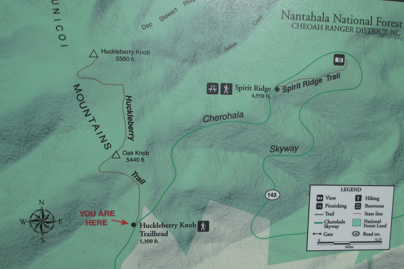 Huckleberry Knob Hike Map