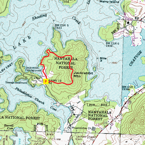 Jackrabbit Mountain Loop Hike Route Map