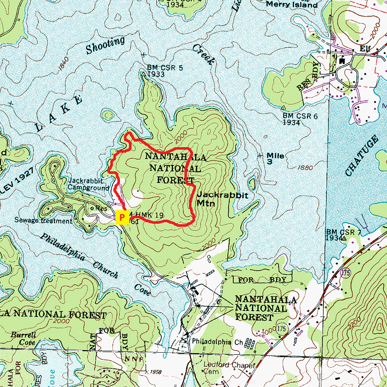 Jackrabbit Mountain Trail Route Map