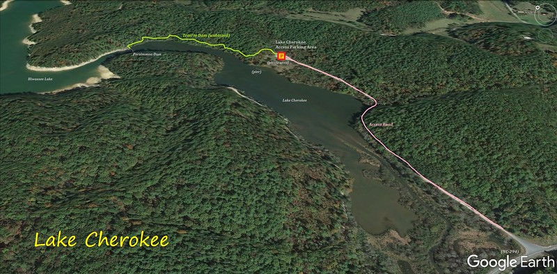 Lake Cherokee Hike Route Map