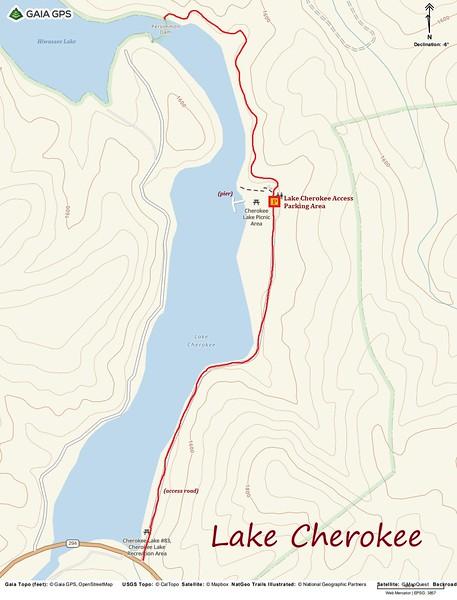Lake Cherokee Hike Route Map