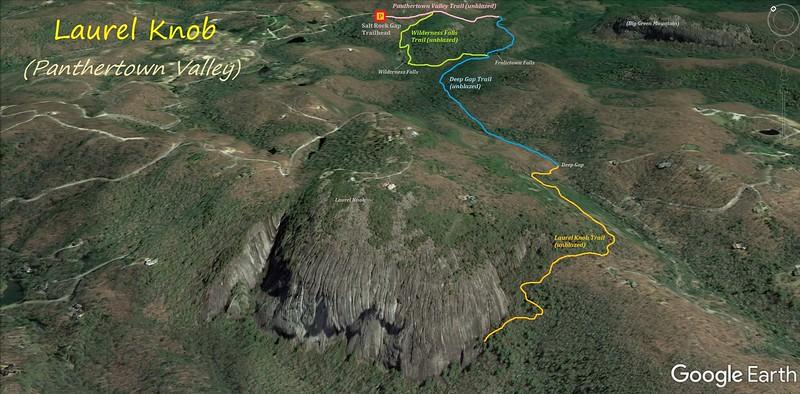 Laurel Knob Hike Route Map