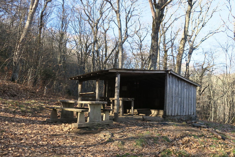 Siler Bald Shelter -- 4,580'