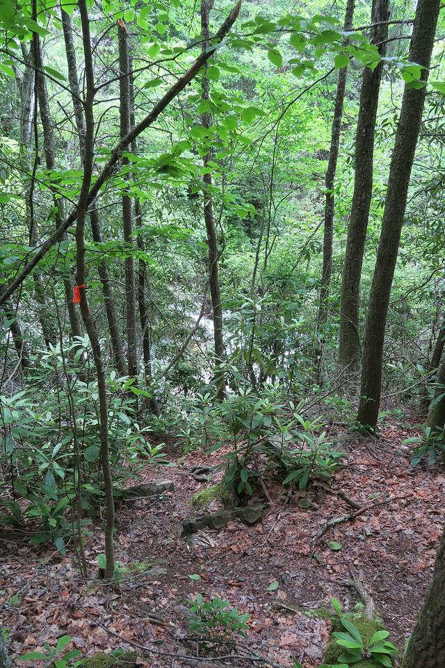 Lower Falls (Upper Portion) Scramble Path -- 3,380'