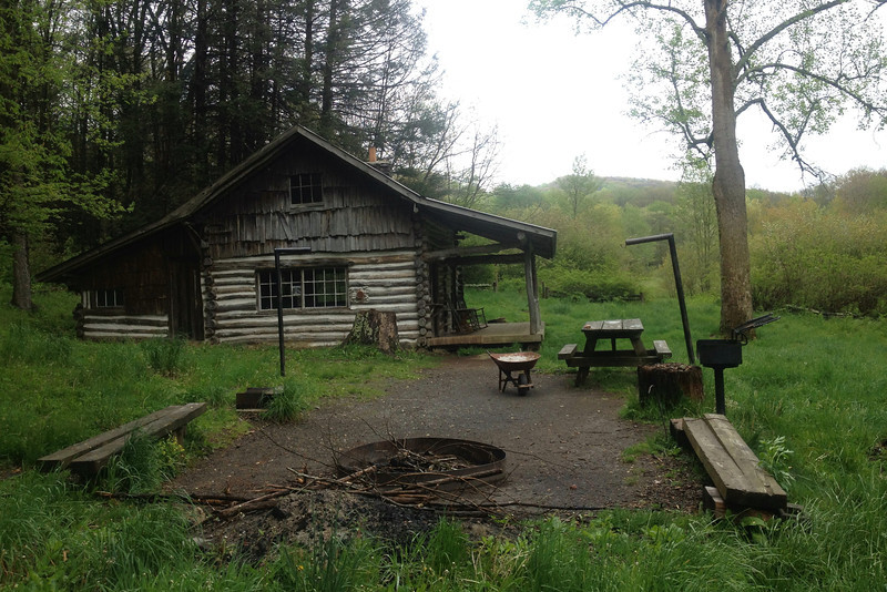 A fire pit, picnic table, grill, and lantern posts...all the amenities you could want out here in the backcountry...