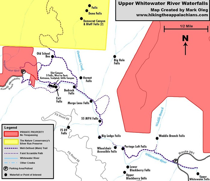 Map of the Upper Whitewater River Area