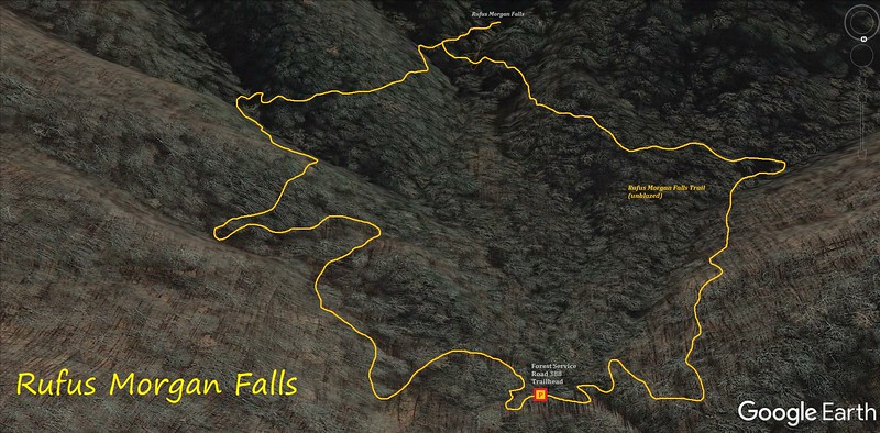 Rufus Morgan Falls Hike Route Map