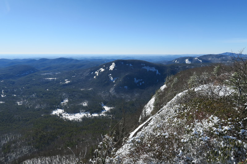 Whiteside Mountain Summit -- 4,931'