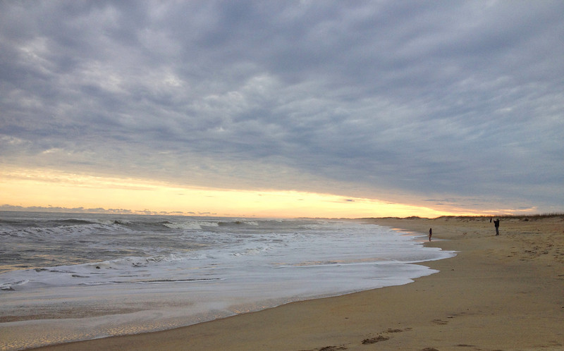 Watching the evening waves roll at Cape Hatteras beach...
