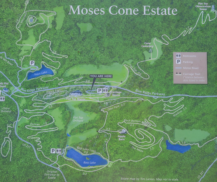 Moses Cone Estate Trail Map