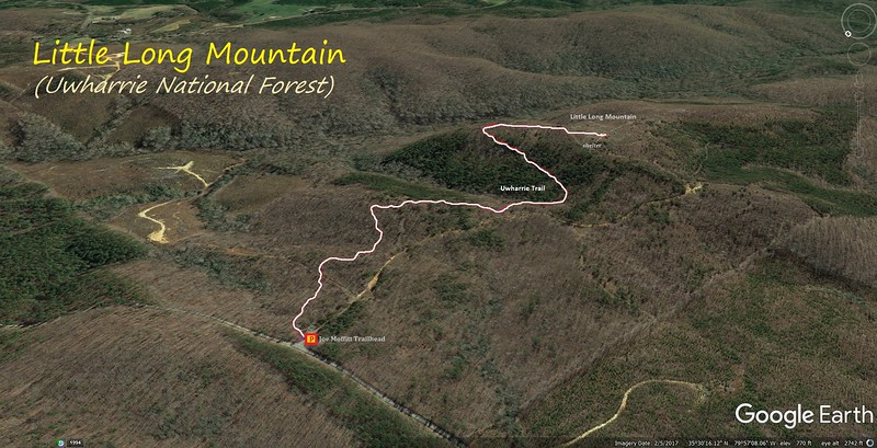 Little Long Mountain Hike Route Map