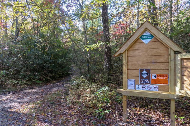 Gum Gap Trailhead -- 3,050'