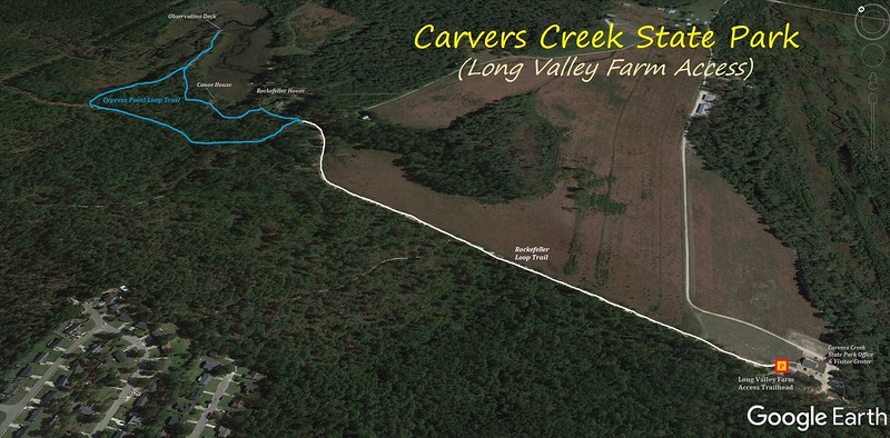 Carvers Creek State Park Hike Route Map