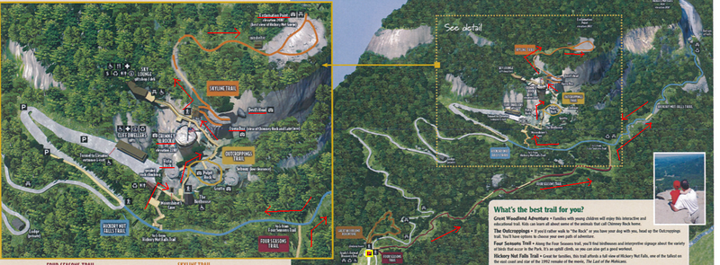 Chimney Rock State Park Hike Route Map